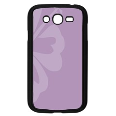 Hibiscus Sakura Lavender Herb Purple Samsung Galaxy Grand Duos I9082 Case (black) by Mariart