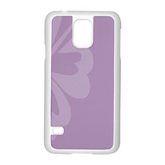 Hibiscus Sakura Lavender Herb Purple Samsung Galaxy S5 Case (white) by Mariart