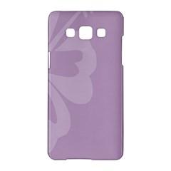 Hibiscus Sakura Lavender Herb Purple Samsung Galaxy A5 Hardshell Case  by Mariart