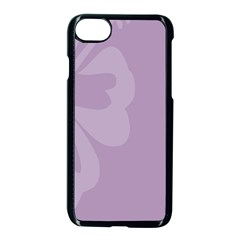 Hibiscus Sakura Lavender Herb Purple Apple Iphone 7 Seamless Case (black) by Mariart
