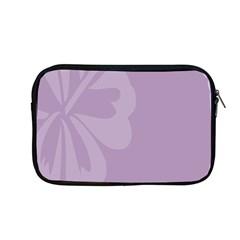 Hibiscus Sakura Lavender Herb Purple Apple Macbook Pro 13  Zipper Case by Mariart
