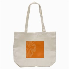 Hibiscus Sakura Tangerine Orange Tote Bag (cream) by Mariart