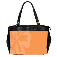Hibiscus Sakura Tangerine Orange Office Handbags (2 Sides)  by Mariart