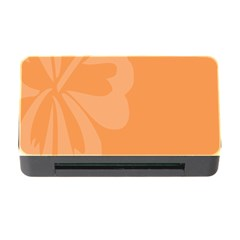 Hibiscus Sakura Tangerine Orange Memory Card Reader With Cf by Mariart