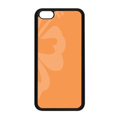 Hibiscus Sakura Tangerine Orange Apple Iphone 5c Seamless Case (black) by Mariart