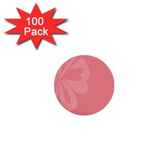 Hibiscus Sakura Strawberry Ice Pink 1  Mini Buttons (100 pack)