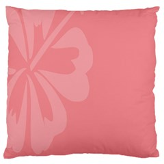 Hibiscus Sakura Strawberry Ice Pink Large Cushion Case (two Sides) by Mariart
