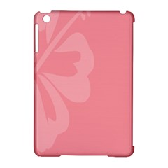 Hibiscus Sakura Strawberry Ice Pink Apple Ipad Mini Hardshell Case (compatible With Smart Cover) by Mariart