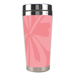 Hibiscus Sakura Strawberry Ice Pink Stainless Steel Travel Tumblers by Mariart
