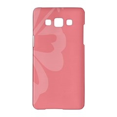 Hibiscus Sakura Strawberry Ice Pink Samsung Galaxy A5 Hardshell Case  by Mariart