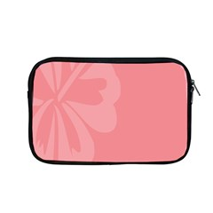 Hibiscus Sakura Strawberry Ice Pink Apple Macbook Pro 13  Zipper Case by Mariart