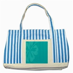 Hibiscus Sakura Scuba Blue Striped Blue Tote Bag by Mariart