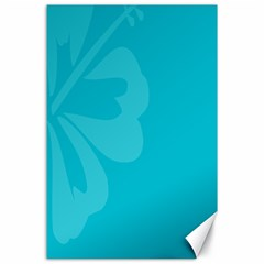 Hibiscus Sakura Scuba Blue Canvas 24  X 36  by Mariart