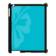 Hibiscus Sakura Scuba Blue Apple Ipad 3/4 Case (black) by Mariart