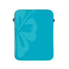 Hibiscus Sakura Scuba Blue Apple Ipad 2/3/4 Protective Soft Cases by Mariart
