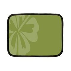 Hibiscus Sakura Woodbine Green Netbook Case (small)  by Mariart
