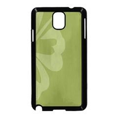 Hibiscus Sakura Woodbine Green Samsung Galaxy Note 3 Neo Hardshell Case (black) by Mariart