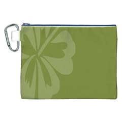 Hibiscus Sakura Woodbine Green Canvas Cosmetic Bag (xxl) by Mariart