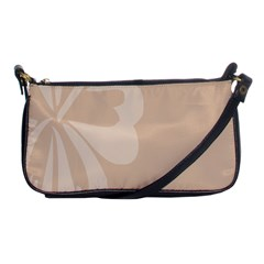 Hibiscus Sakura Toasted Almond Grey Shoulder Clutch Bags by Mariart