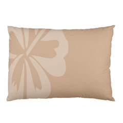 Hibiscus Sakura Toasted Almond Grey Pillow Case (two Sides) by Mariart