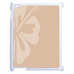 Hibiscus Sakura Toasted Almond Grey Apple Ipad 2 Case (white) by Mariart