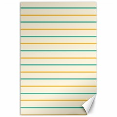 Horizontal Line Yellow Blue Orange Canvas 24  X 36  by Mariart