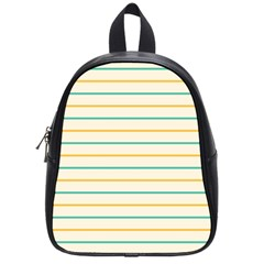 Horizontal Line Yellow Blue Orange School Bags (small)  by Mariart