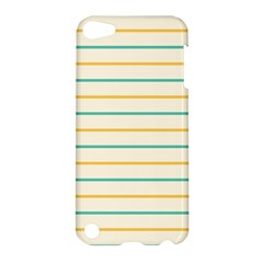 Horizontal Line Yellow Blue Orange Apple Ipod Touch 5 Hardshell Case by Mariart