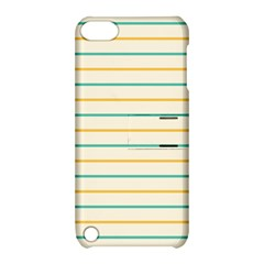 Horizontal Line Yellow Blue Orange Apple Ipod Touch 5 Hardshell Case With Stand by Mariart