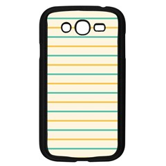 Horizontal Line Yellow Blue Orange Samsung Galaxy Grand Duos I9082 Case (black) by Mariart