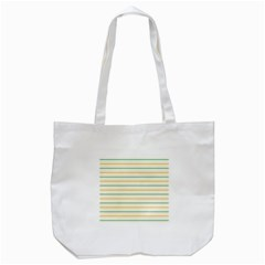 Horizontal Line Yellow Blue Orange Tote Bag (white) by Mariart