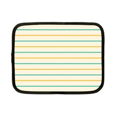 Horizontal Line Yellow Blue Orange Netbook Case (small)  by Mariart