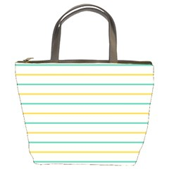 Horizontal Line Yellow Blue Orange Bucket Bags by Mariart