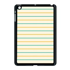 Horizontal Line Yellow Blue Orange Apple Ipad Mini Case (black)