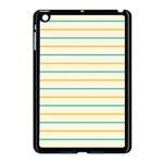 Horizontal Line Yellow Blue Orange Apple iPad Mini Case (Black) Front