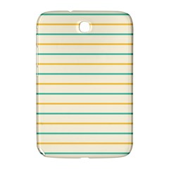 Horizontal Line Yellow Blue Orange Samsung Galaxy Note 8 0 N5100 Hardshell Case  by Mariart