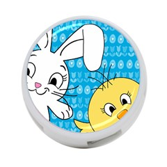 Easter Bunny And Chick  4 Port Usb Hub (one Side) by Valentinaart