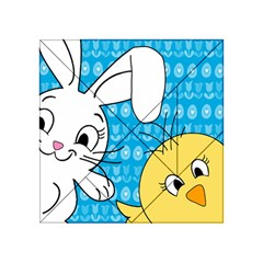 Easter bunny and chick  Acrylic Tangram Puzzle (4  x 4 ) by Valentinaart