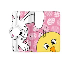 Easter Bunny And Chick  Kindle Fire Hdx 8 9  Flip 360 Case by Valentinaart