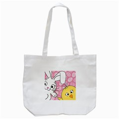 Easter Bunny And Chick  Tote Bag (white) by Valentinaart