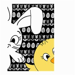 Easter Bunny And Chick  Small Garden Flag (two Sides) by Valentinaart