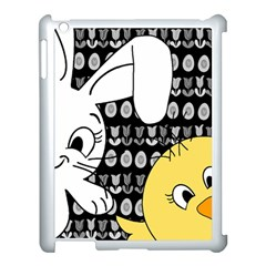 Easter Bunny And Chick  Apple Ipad 3/4 Case (white) by Valentinaart