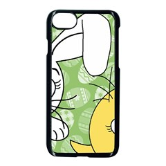 Easter Bunny And Chick  Apple Iphone 7 Seamless Case (black) by Valentinaart