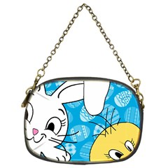 Easter Bunny And Chick  Chain Purses (one Side)  by Valentinaart