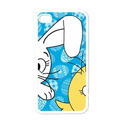Easter Bunny And Chick  Apple Iphone 4 Case (white) by Valentinaart