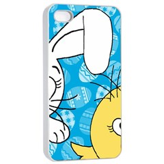 Easter Bunny And Chick  Apple Iphone 4/4s Seamless Case (white) by Valentinaart
