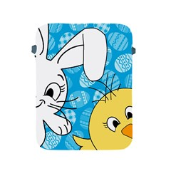 Easter Bunny And Chick  Apple Ipad 2/3/4 Protective Soft Cases by Valentinaart