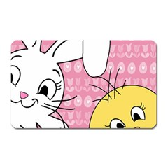 Easter Bunny And Chick  Magnet (rectangular) by Valentinaart