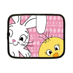Easter Bunny And Chick  Netbook Case (small)  by Valentinaart
