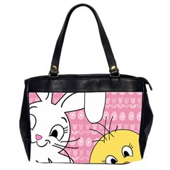 Easter Bunny And Chick  Office Handbags (2 Sides)  by Valentinaart